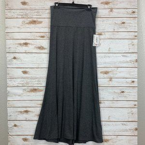 LuLaRoe Maxi Skirt Small Gray Heather NWT